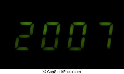 Digital led counter from twenty
