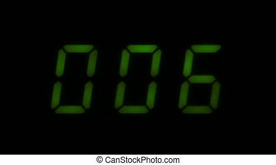 Digital led counter from zero
