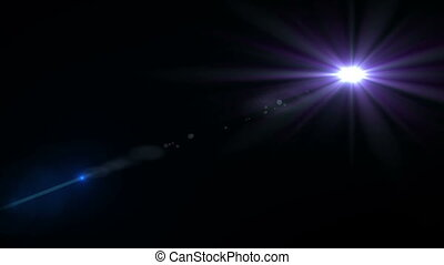 Digital lens flare in black background