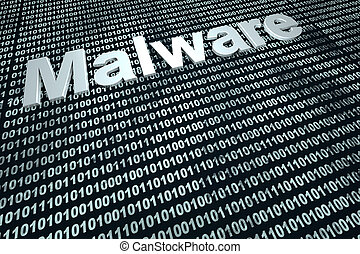 Malware - Digital Malware. 3D rendered background