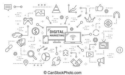 Digital marketing animation.