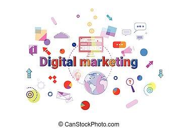 Digital Marketing Concept Business Strategy Development Banner