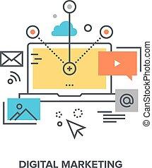 digital marketing concept - Vector illustration of digital...