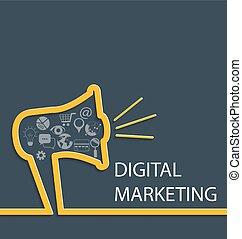 Digital marketing concept.