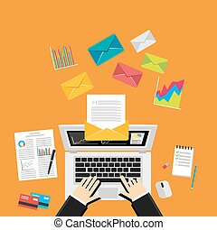 Digital Marketing Email.Send Business Mail. Send message