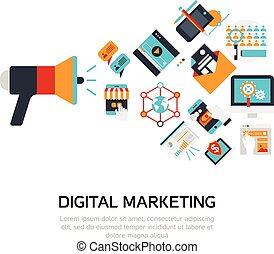 Digital Marketing Flat Design