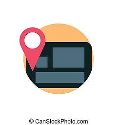 digital marketing mobile gps navigation location pin