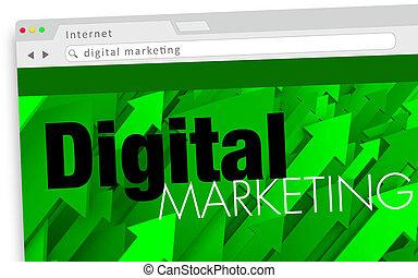 Digital Marketing Website Online Promotion Illustration