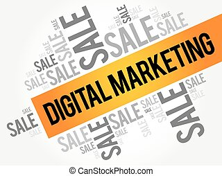 Digital Marketing words cloud