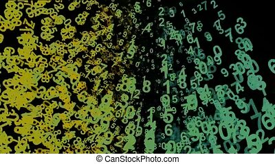 Digital Matrix,group of number,finance digital background