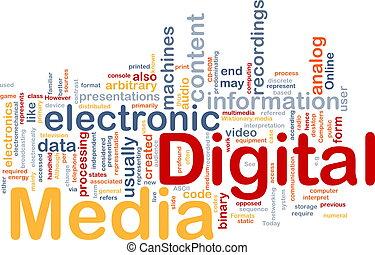 Digital media background concept