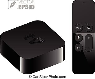 Digital media setup box with remote