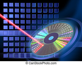 Digital media writing - Laser beam writing on a Cd or Dvd...