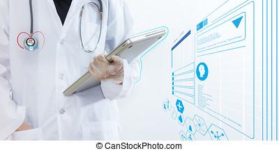 Digital medical and concept idea.