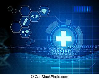 digital, medicina, interfaz