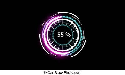 Digital meter analysis power energy white magenta powerful abstract design of technology for advertisement