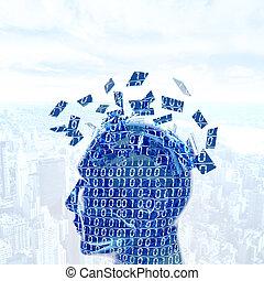 Digital mind - Futuristc concept of a digital mind