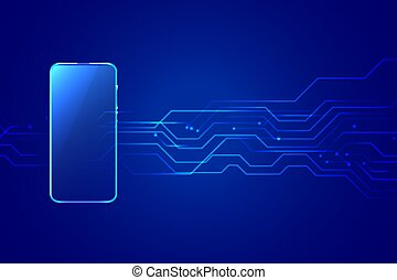 digital mobile smartphone technology background with circuit diagram