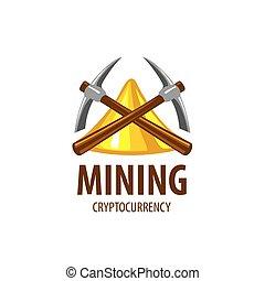 digital, moeda corrente, mineração