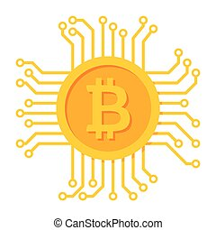 Digital Money Icon - Digital money icon for bitcoin,...