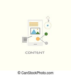 digital multimedia information content concept line style white background