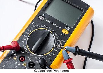 Digital multimeter for determining