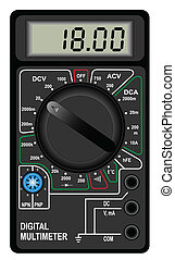 Digital multimeter - Illustration of the digital multimeter ...