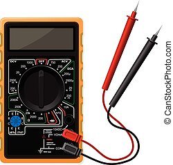 Digital multimeter vector illustration in eps 10