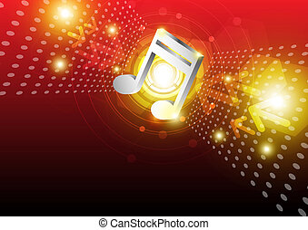 digital music background design