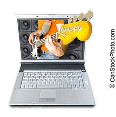 Digital Music (image contains clipping path for easy...