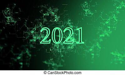 """Digital network. Sign """"2021"""""""