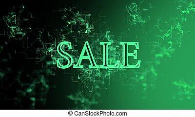 """Digital network. Sign """"Sale"""""""