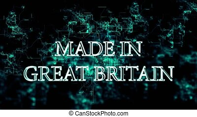 """Digital network with """"Made in Great Britain"""" text - ..."""