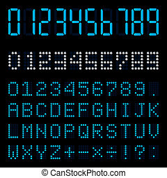 Digital number - Clip arts.