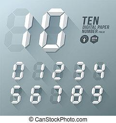 Digital Number italic paper