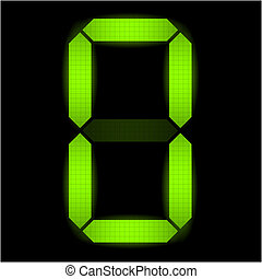 Digital number zero - check my portfolio for other numbers...