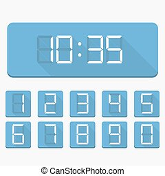 Digital Numbers and Clock