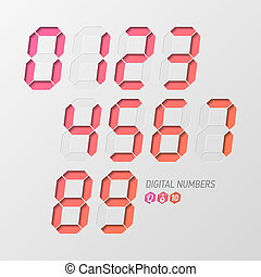 Digital numbers set