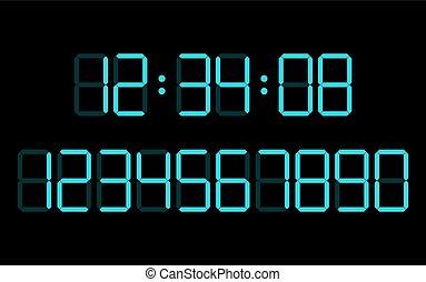 digital numbers  set