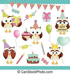 Digital Owls Birthday Party