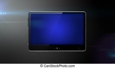 Digital pad with blue screen  ready for your message