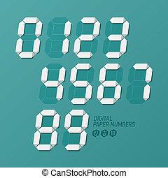 Digital paper numbers set