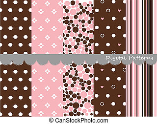 Digital patterns, scrapbook set