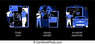 Digital payment abstract concept vector illustrations.