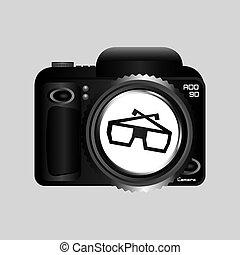 digital photo camera glasses 3d
