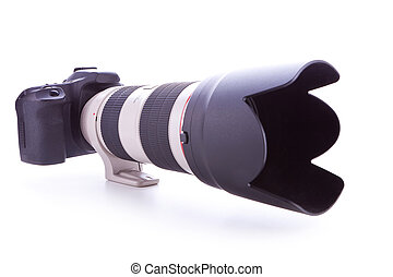 camera with 70-200mm, f2.8 zoom lens - digital photo camera...
