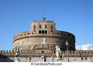 Digital photo of the Castel Sant Angelo in rome - italy.