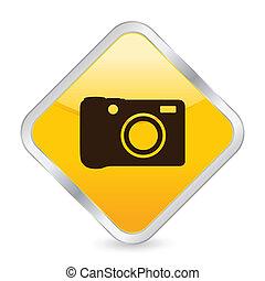 digital photo yellow square icon
