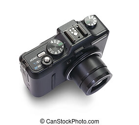 digital photocamera. Isolated over white with clipping path