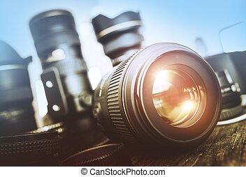Digital Photography Set. Photography Equipment. Professional...